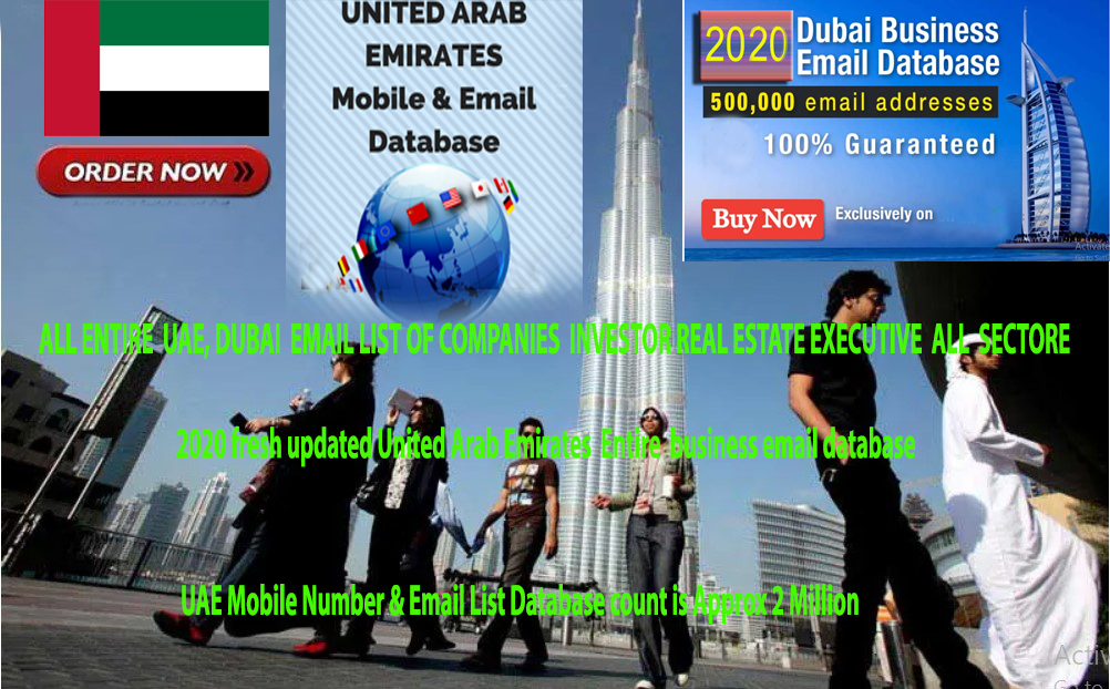 3 millions ENTIRE UAE, FRESH UPDATED EMAIL LIST OF COMPANIES