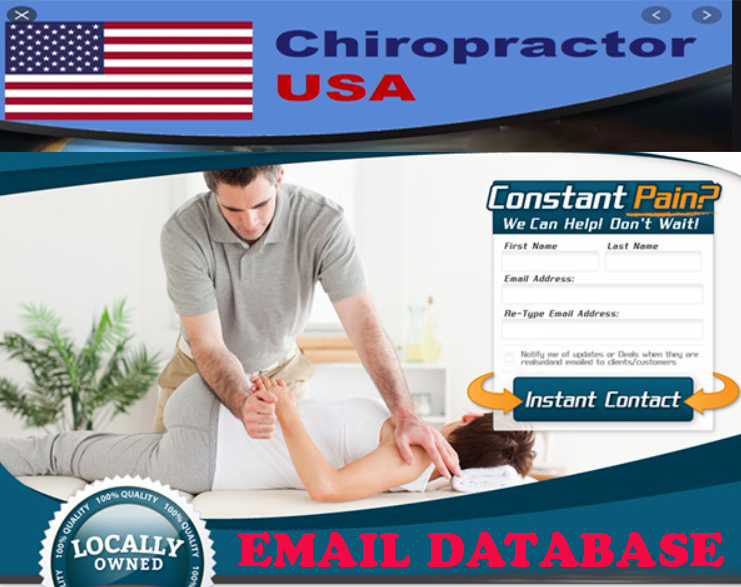 11 K verified USA Chiropractor Email Database