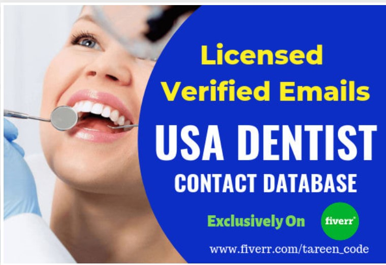 120000 USA Dentist Verified Email Lists updated 2020