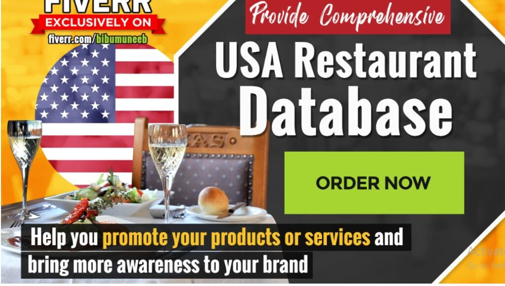 4000 USA Restaurant database